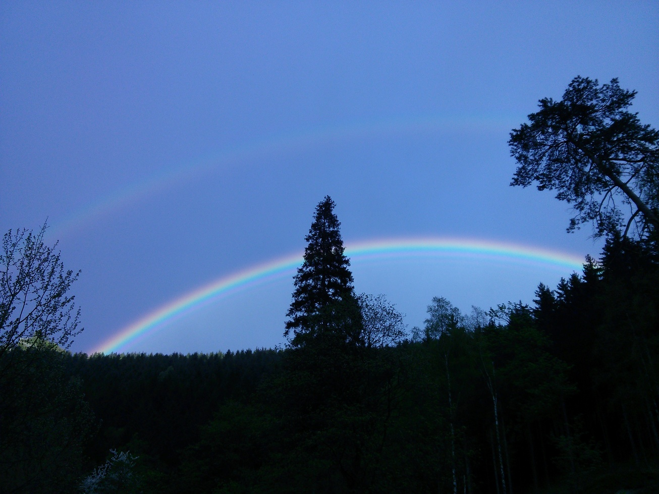 one of the finest double rainbows I ever saw in my life