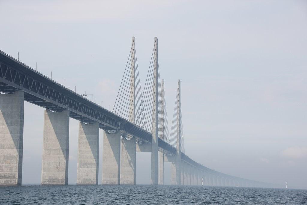 Oresund Bridge. Last time I drove over, no I sailed under it.