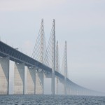 Oresund Bridge. Last time I drove over, no I sailed under it.